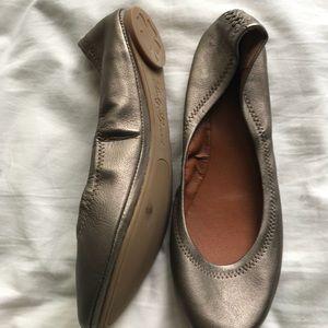 Lucky Brand Dark Silver Flats